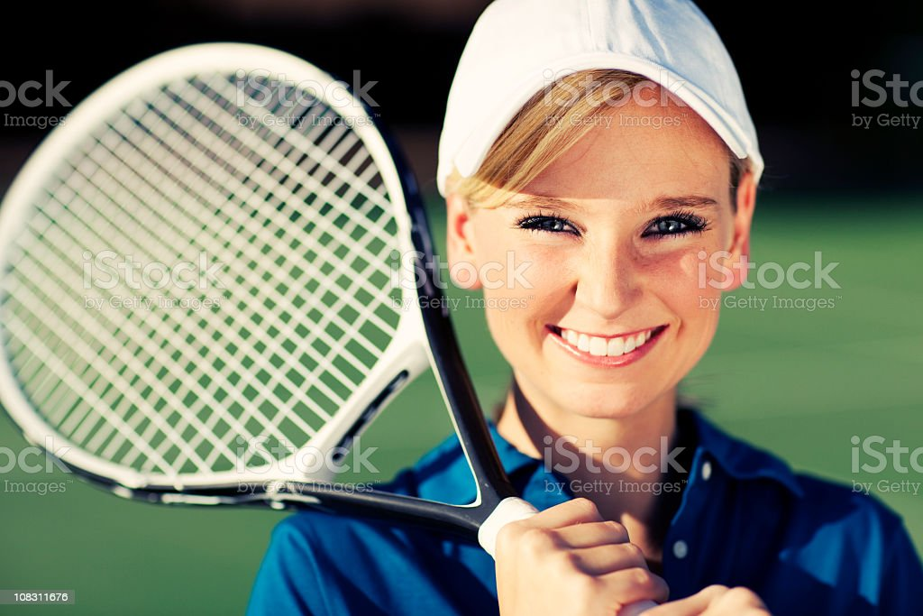 Female Tennis Portrait royalty-free stock photo