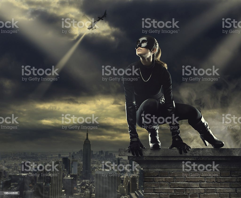 Female thief stock photo