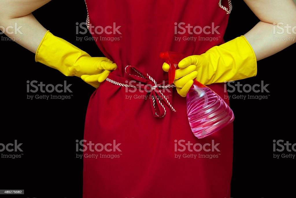 Female torso and red robe royalty-free stock photo