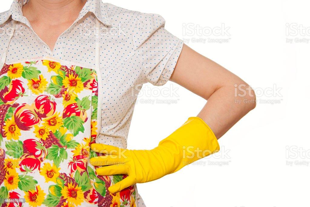 female torso in shirt royalty-free stock photo