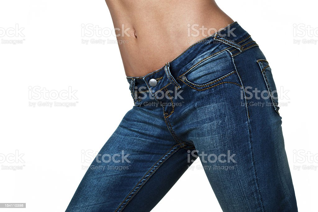 Female torso wearing jeans royalty-free stock photo