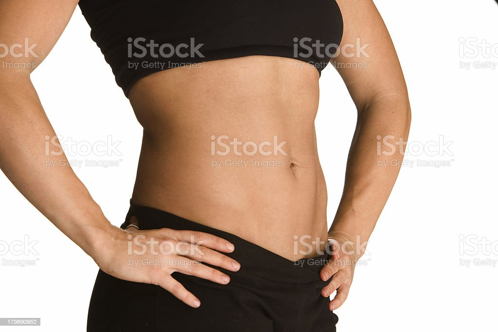 Female torso with abs royalty-free stock photo