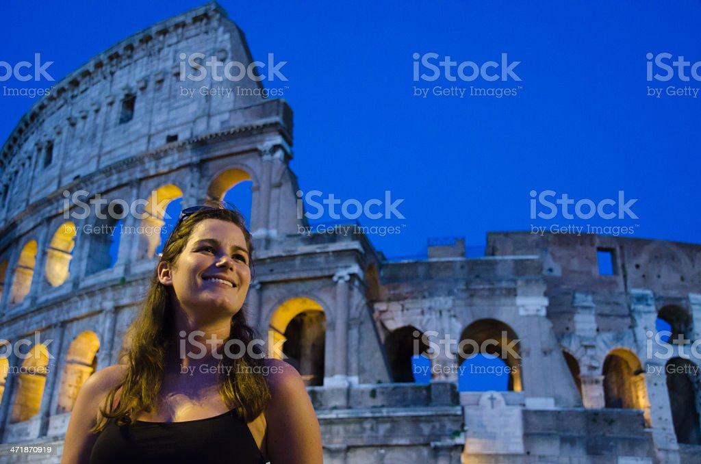 Female Tourist Enjoying Rome royalty-free stock photo