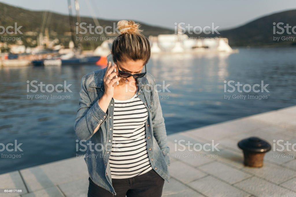 Female tourist stock photo