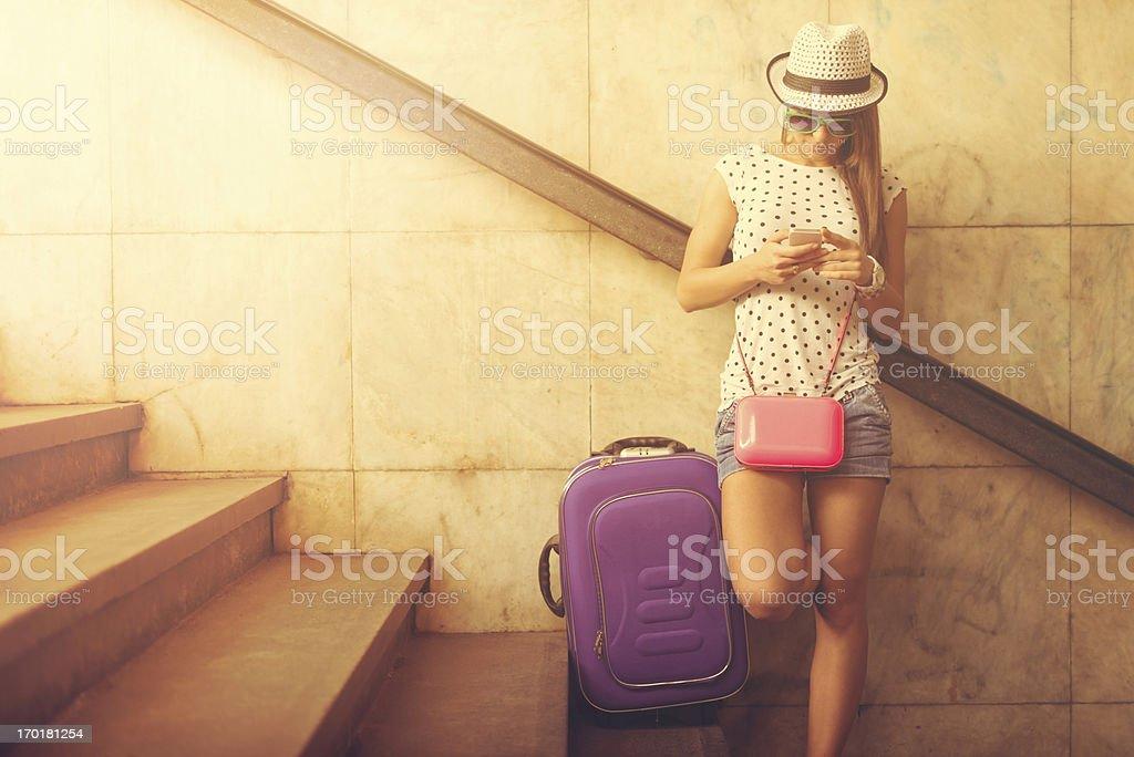 Female Traveler stock photo