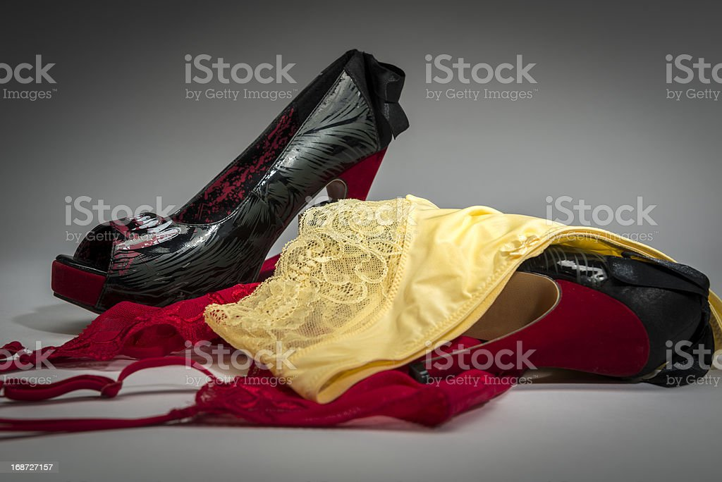 Female underwear composition royalty-free stock photo