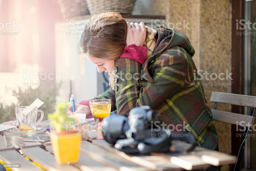 Female University Student stock photo