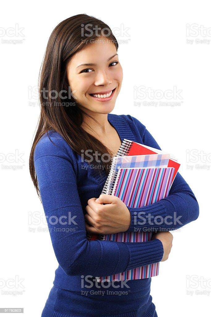 Female university student royalty-free stock photo