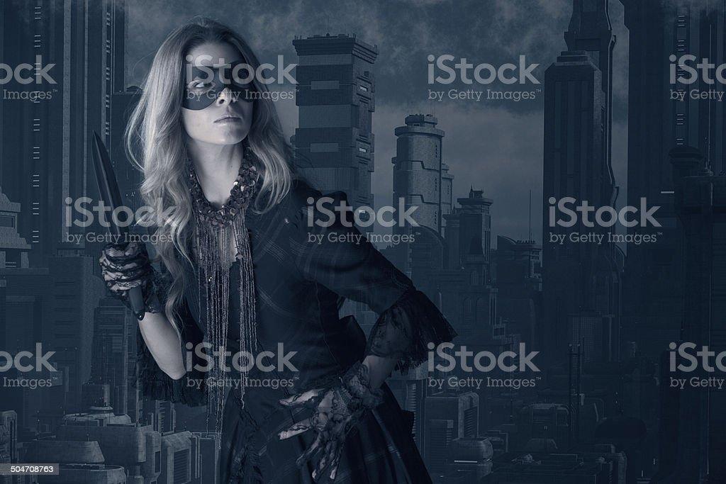Female Urban Assassin stock photo