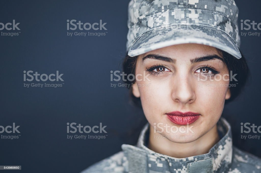 Female US Army Soldier stock photo