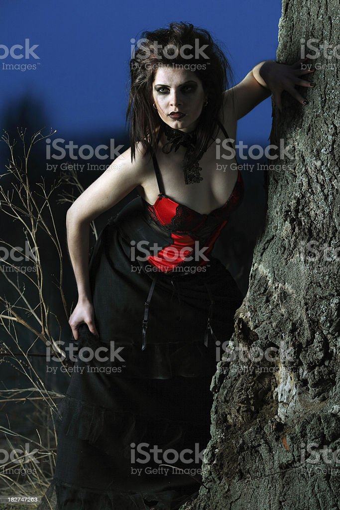 female vampire royalty-free stock photo