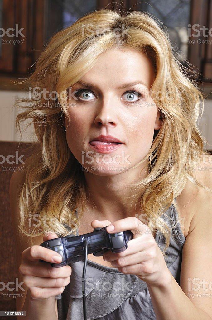 Female Video Gamer royalty-free stock photo