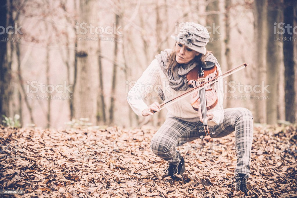 Female Violin Player stock photo