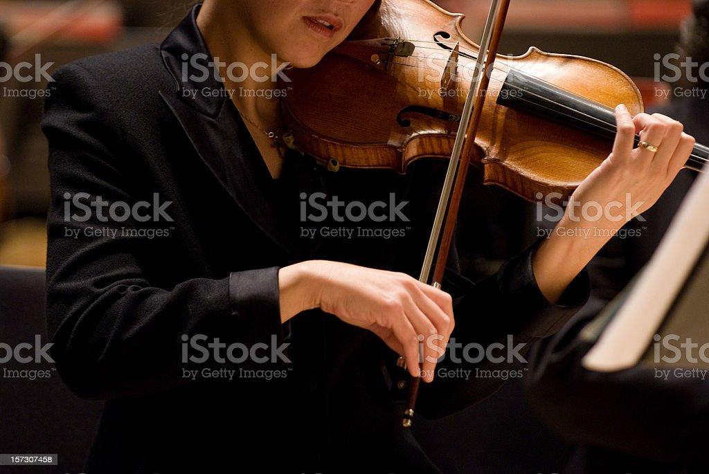 Female violinist royalty-free stock photo