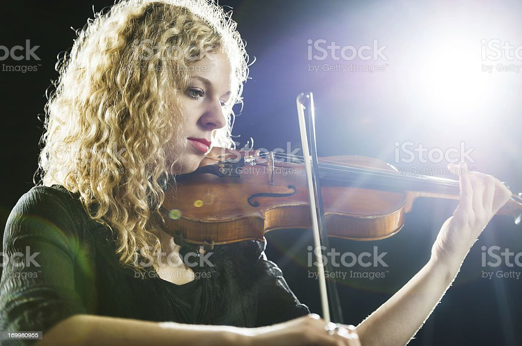 Female violinist. royalty-free stock photo