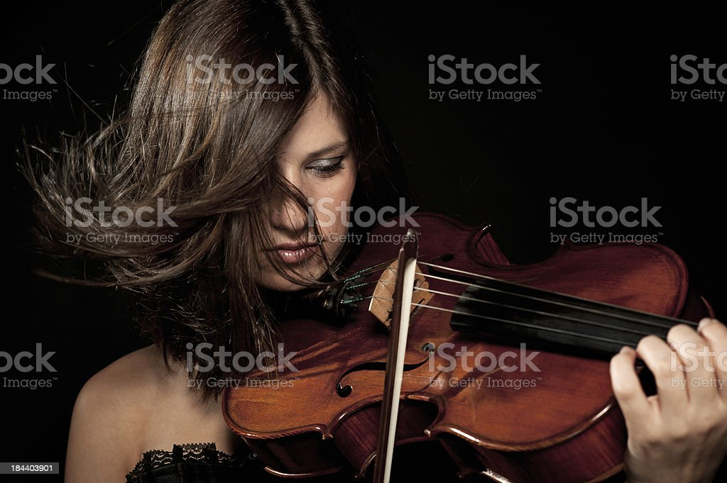Female violist stock photo