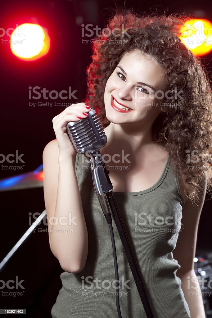 Female Vocalist royalty-free stock photo