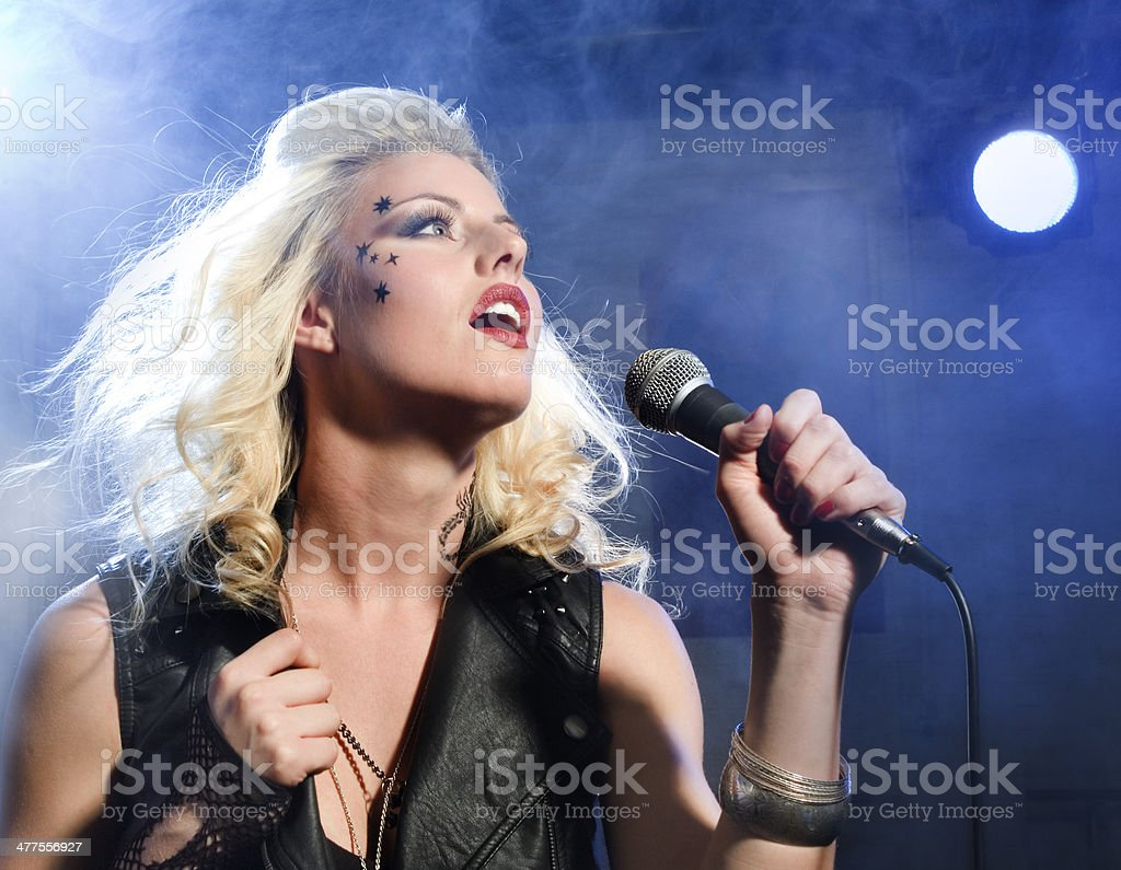 Female vocalist stock photo