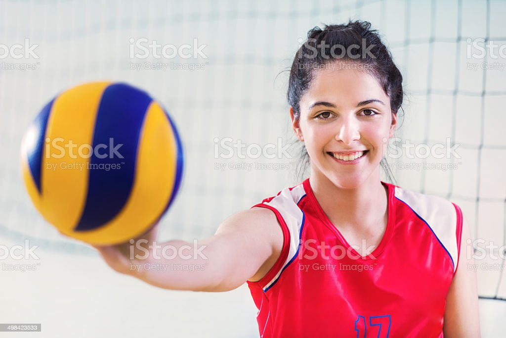 Female volleyball player. royalty-free stock photo
