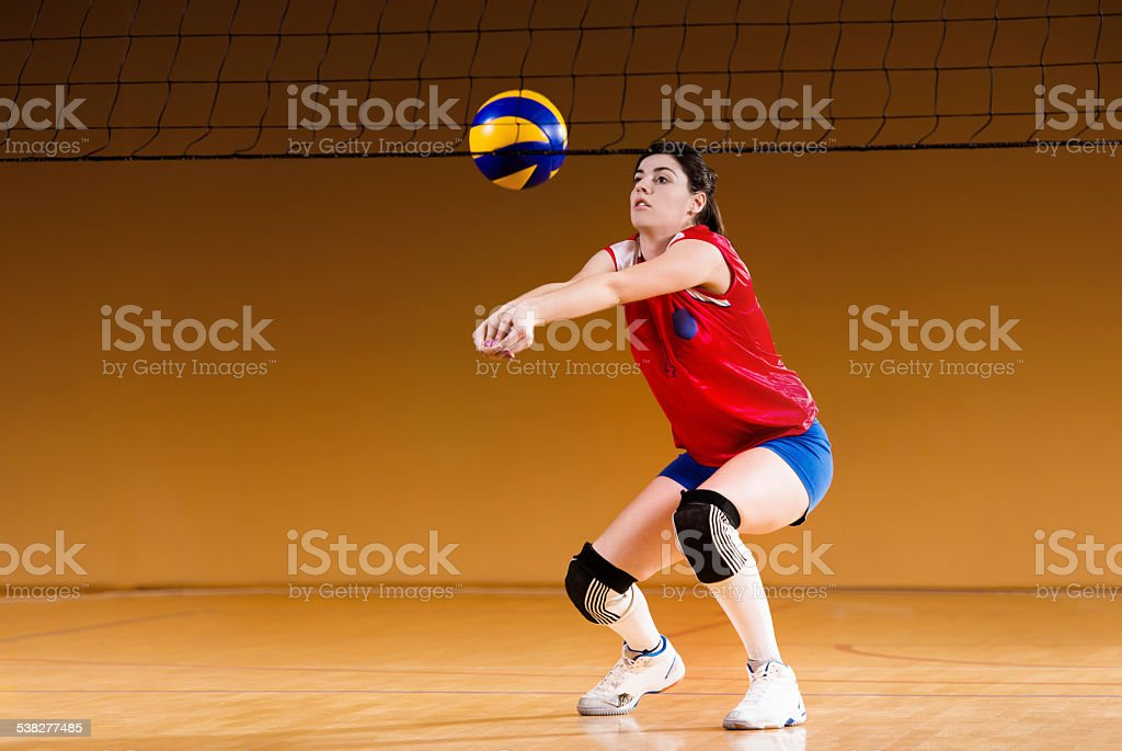 Female volleyball player. stock photo