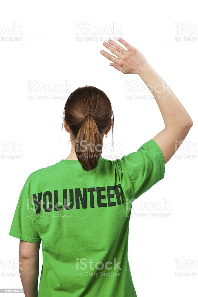 Female Volunteer stock photo