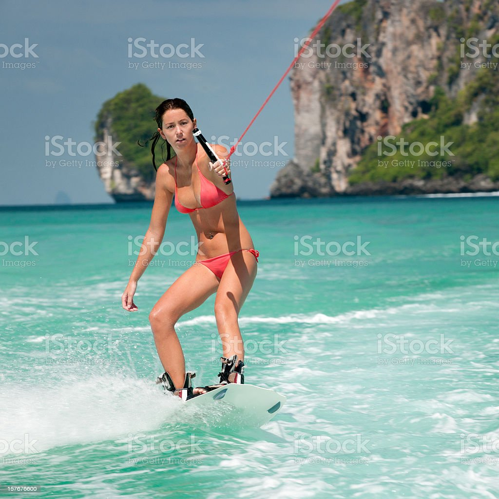 Female Wakeboarder (XXL) stock photo