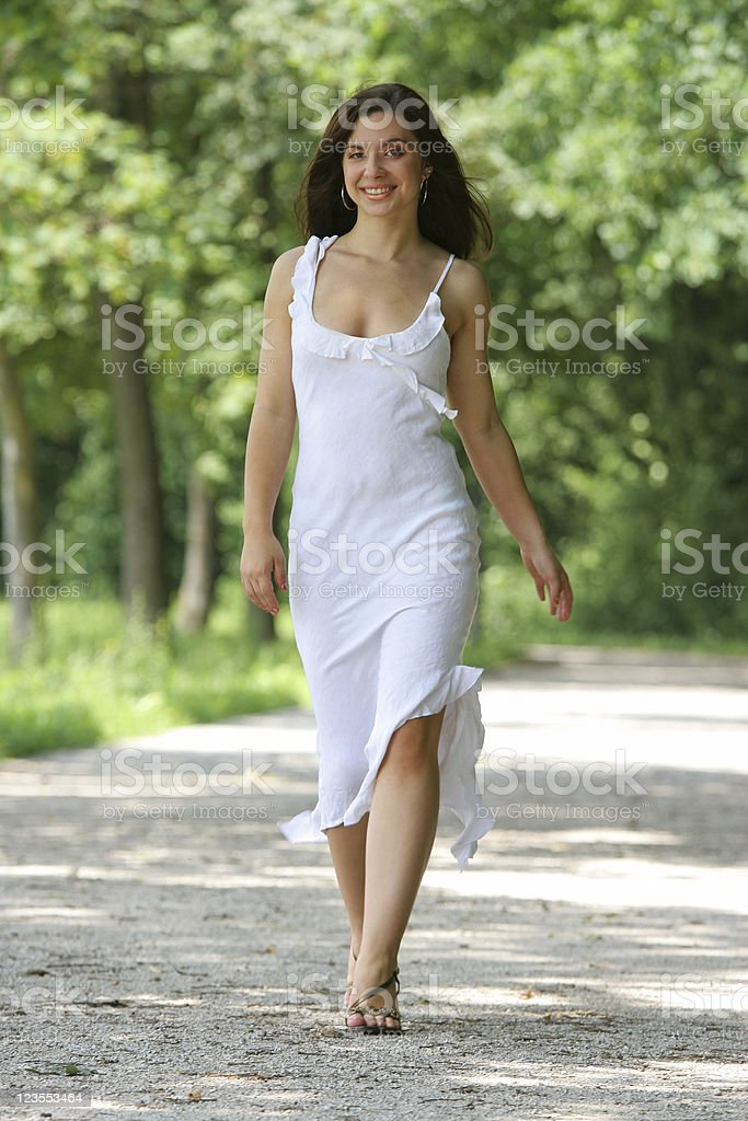 Female walking royalty-free stock photo