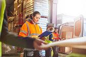 female warehouse worker