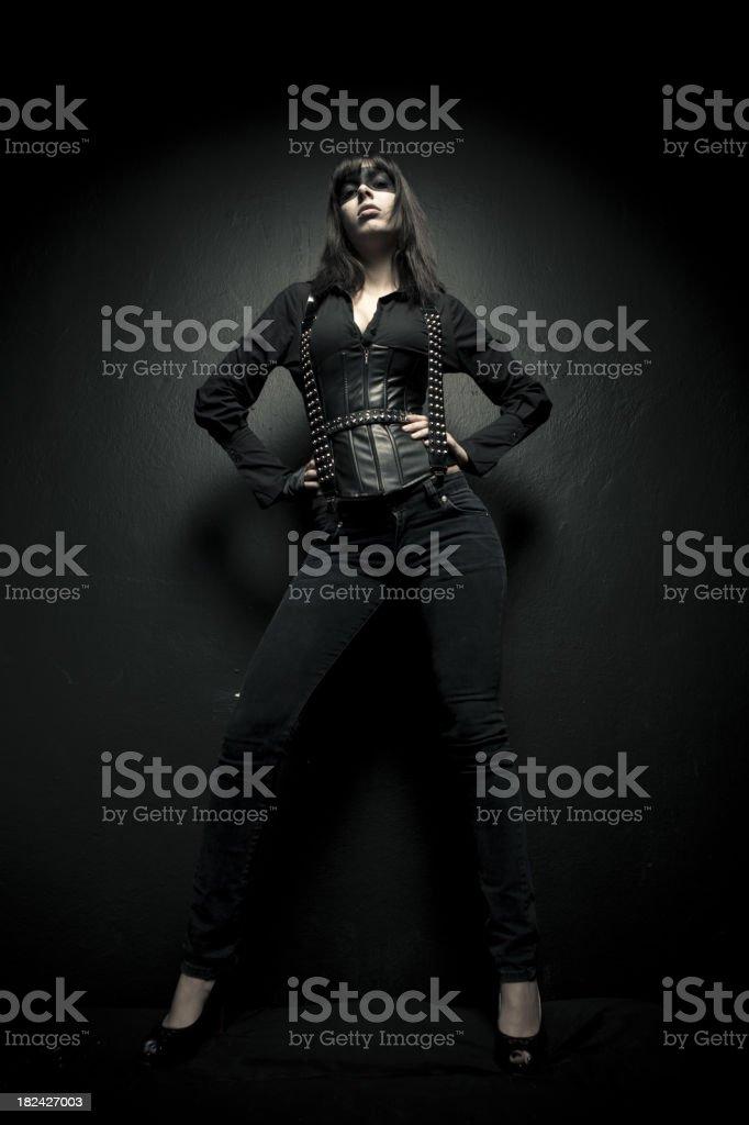 Female warrior royalty-free stock photo
