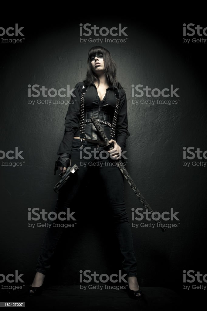 Female warrior royalty-free stock photo