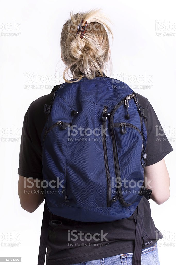 Female wearing BackPack royalty-free stock photo