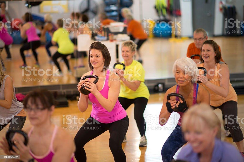 Female Weight Training Class stock photo