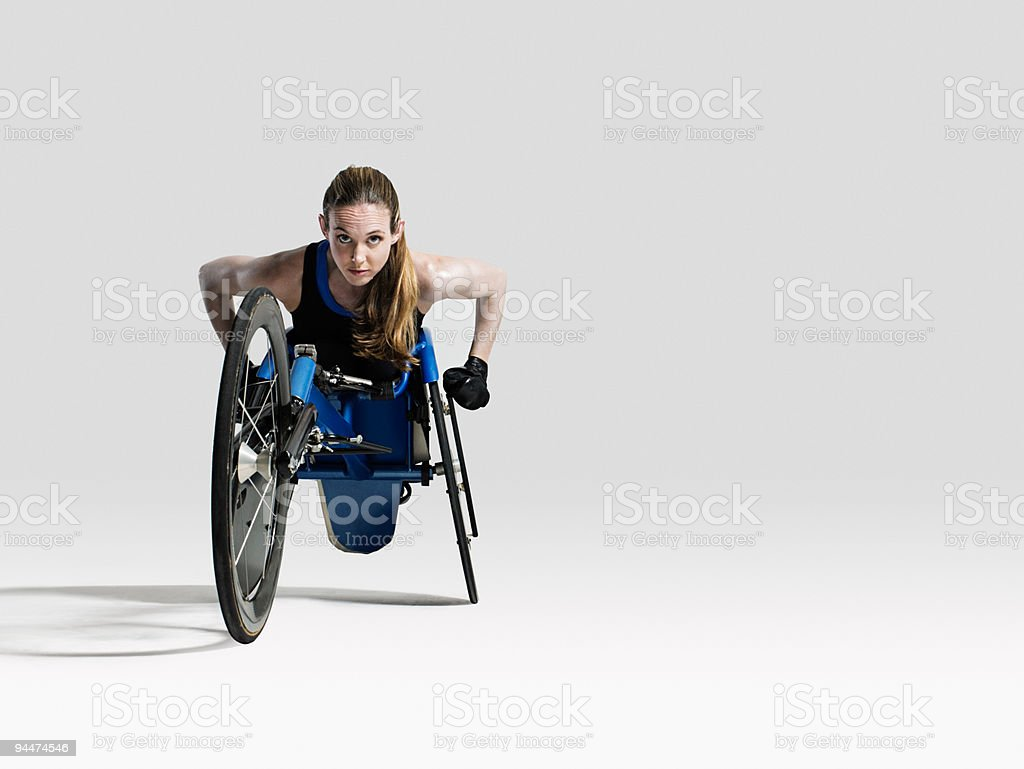 Female wheelchair athlete stock photo