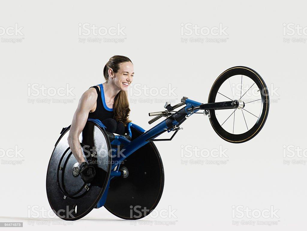 Female wheelchair athlete smiling royalty-free stock photo