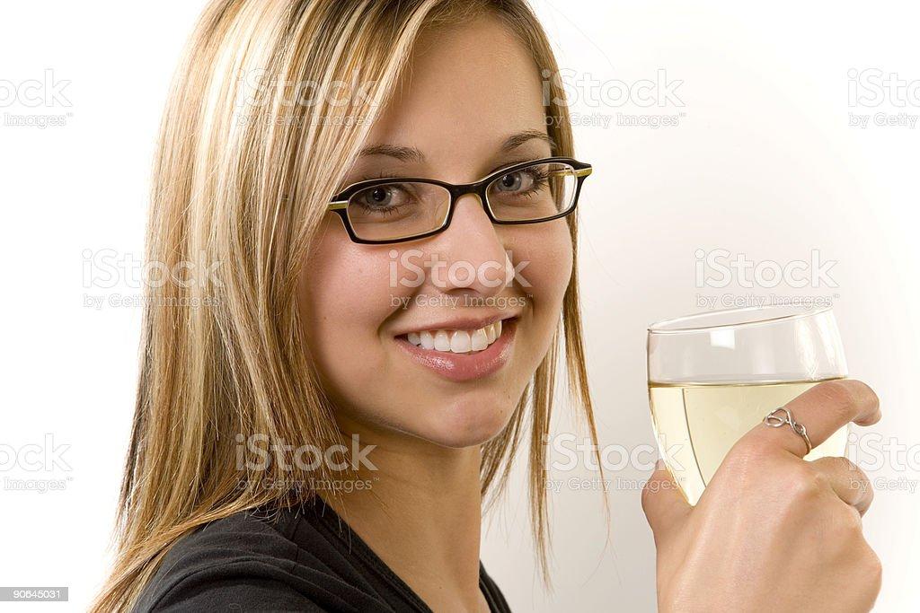 Female / White Wine royalty-free stock photo