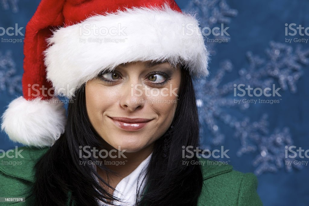 female winter holiday portraits royalty-free stock photo