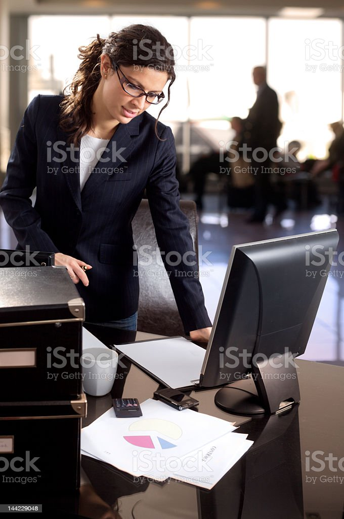 Female with financial occupation stock photo