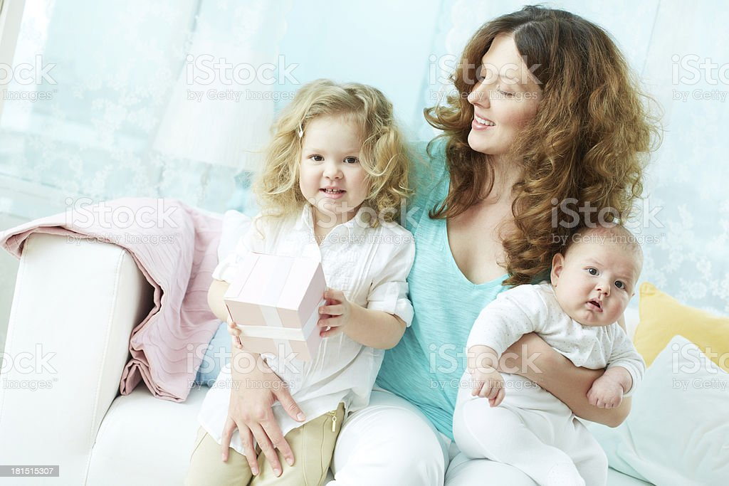 Female with kids royalty-free stock photo