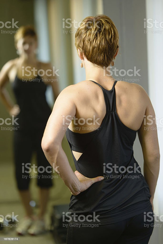 Female With Muscular Back stock photo