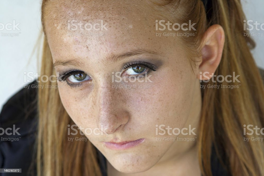 Female with Red-Haired Close up stock photo