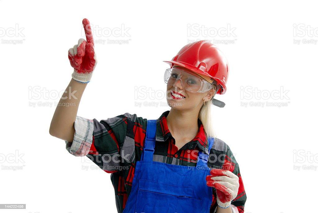 female worker stock photo
