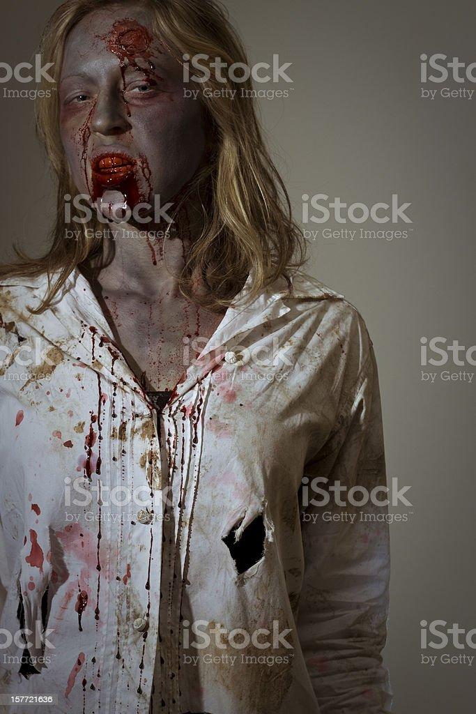 female zombie royalty-free stock photo