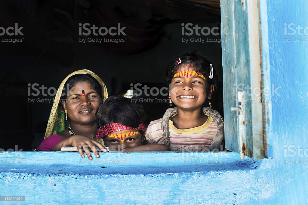 Females in the house stock photo
