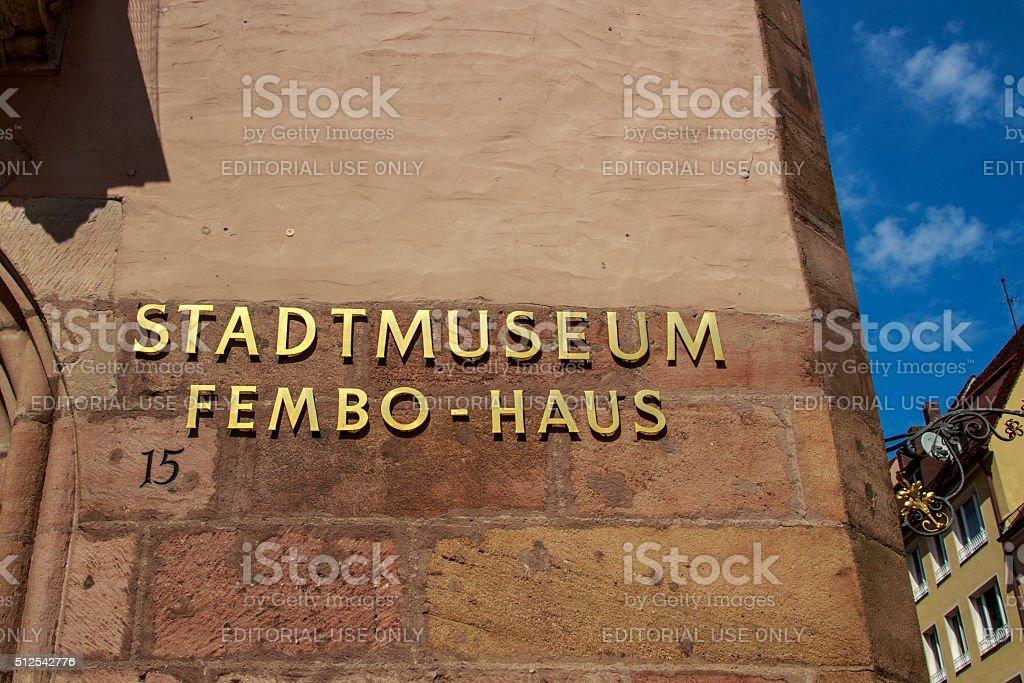 Fembo House City Museum of Nuremberg, Germany, 2015 stock photo