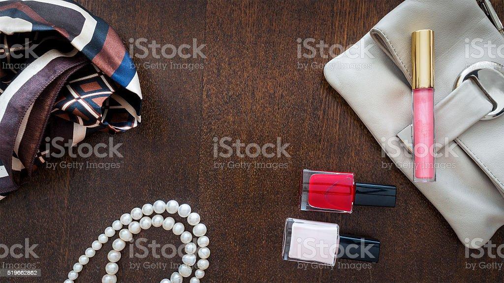 Femenine background stock photo