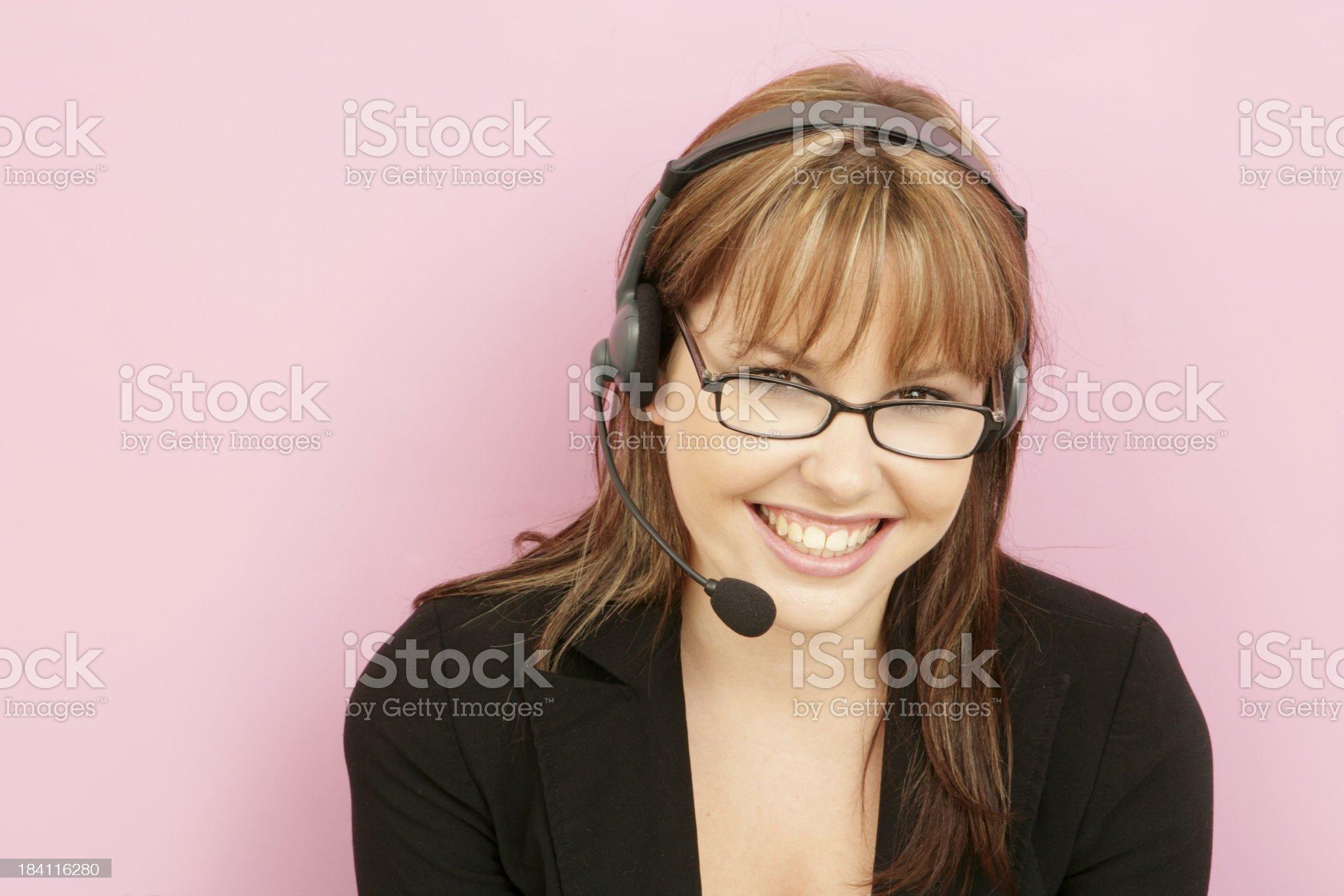 Feminine Customer Support royalty-free stock photo