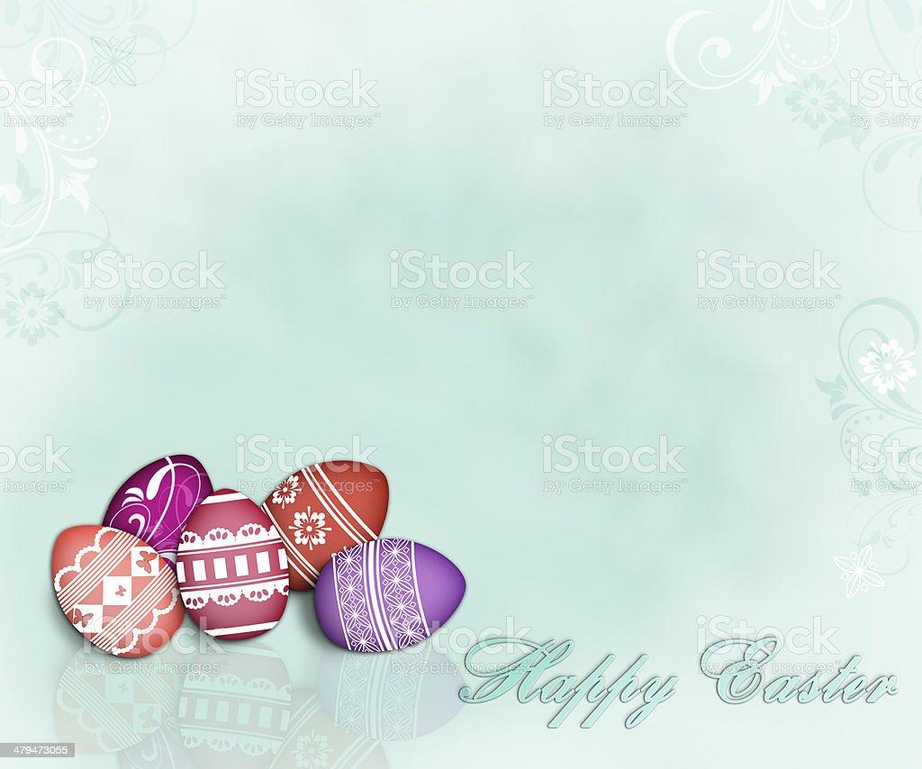 Feminine Easter Eggs Background stock photo