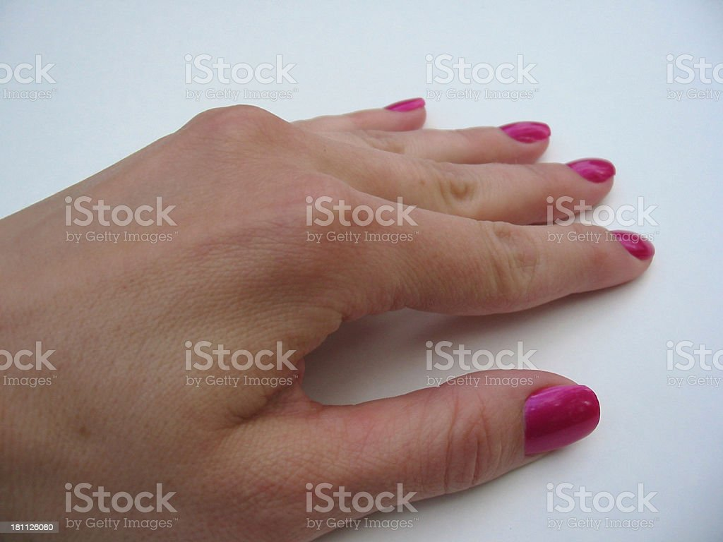 Feminine Fingers 1 royalty-free stock photo