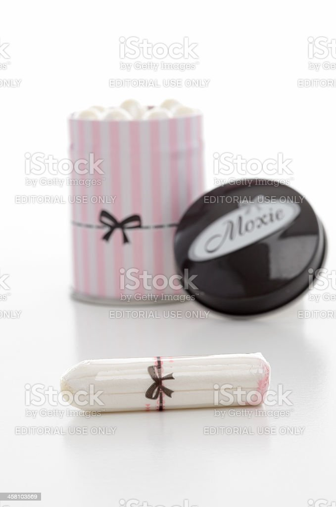 Feminine Hygiene Moxie tampons royalty-free stock photo