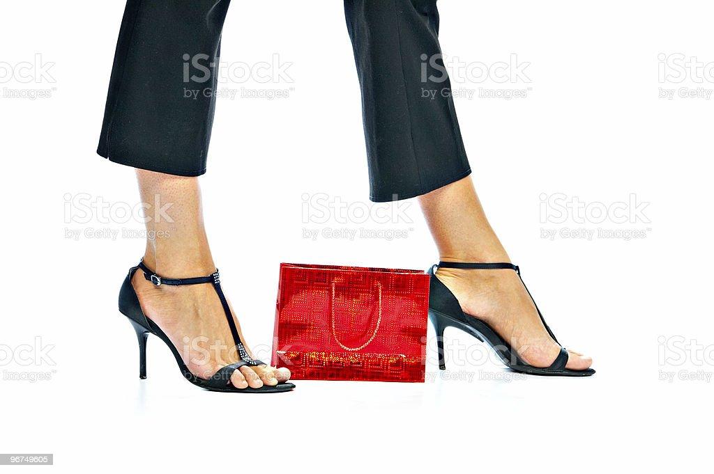 feminine legs stock photo